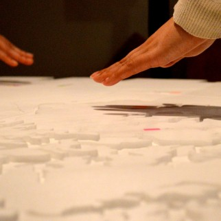 Touching the table: reactive from up to 15 cm above surface