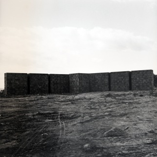 Structures made out of blocks of concrete (Leca), 1989/1990.
